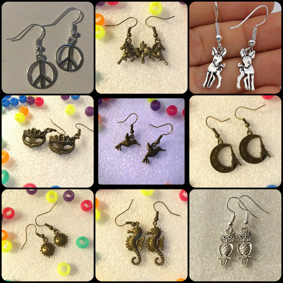 X-Rave Products Jewelry - EARRINGS - 4 for $20 - random - cute retro jewelry